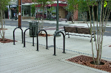 bike rack in Grandin Village