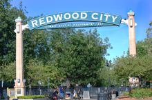 Redwood City Sign at Sequoia Station - Redwood City, CA